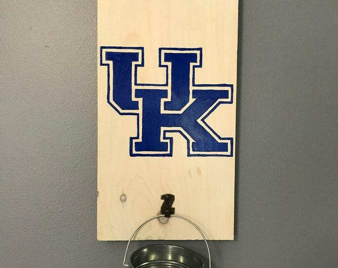 University OF Kentucky Bottle Opener with cap catcher