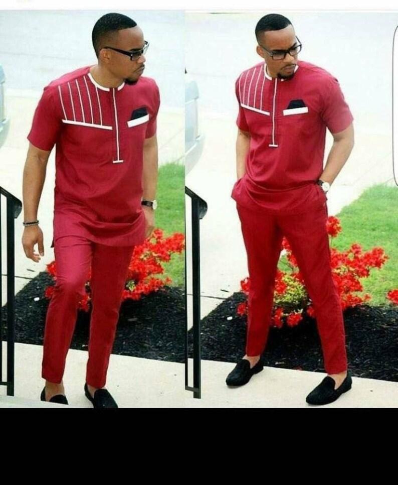 3d0d8ca28cd36 African men s clothing  shirt and pants  wedding