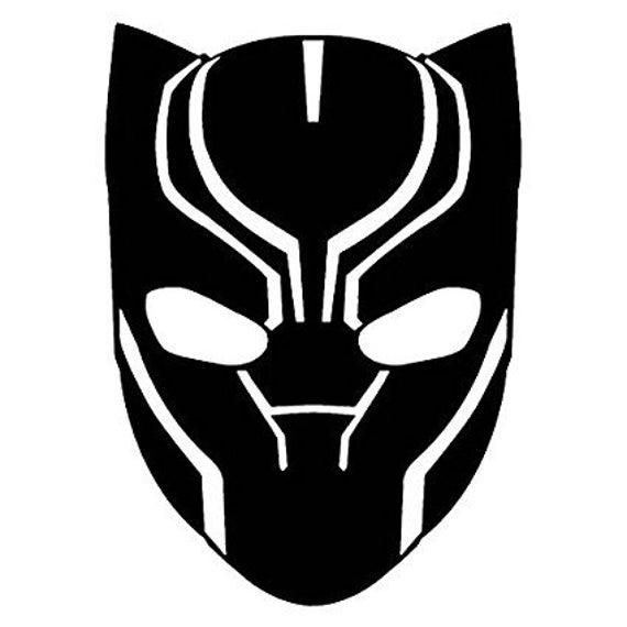 Marvel Black Panther Mask Decal Etsy