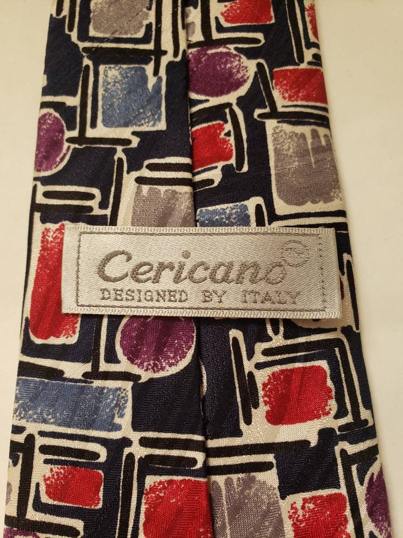 Silk Cericano vintage necktie from the 1980/'s