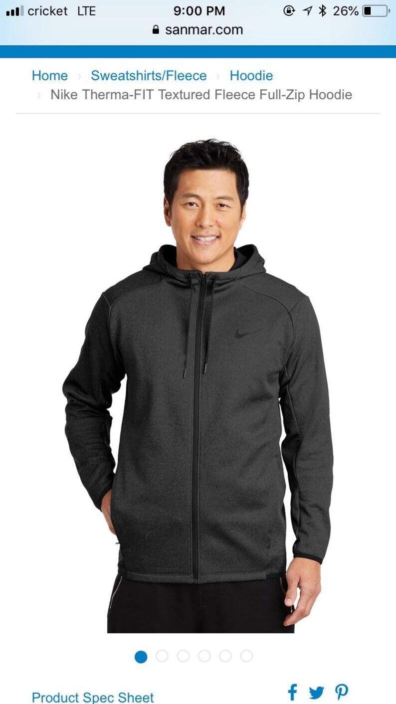 Nike Therma FIT Textured Fleece Full Zip Hoodie