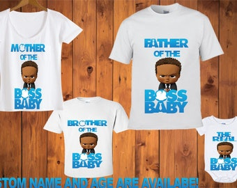 5ecffa52a CurlyBoss Baby TshirtsBoss Baby African American t-shirts, Boss Baby Shirt,  Birthday shirt, Mother, Father, Sister, Brother of the Boss Baby