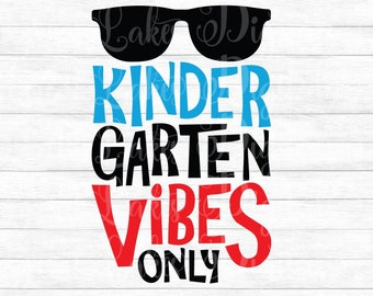 Pre K Vibes Only Instant Digital Download Svg Ai Dxf Etsy