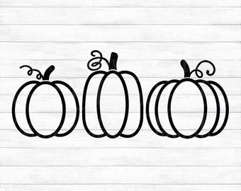 Pumpkins - Instant Digital Download, svg, ai, dxf, eps, png, studio3, and jpg files included! Autumn, Fall, Halloween, Thanksgiving