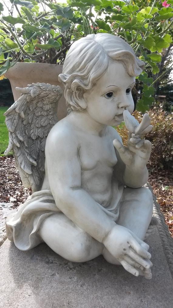 Cherub And Erfly Garden, Cherub Garden Statues Australia