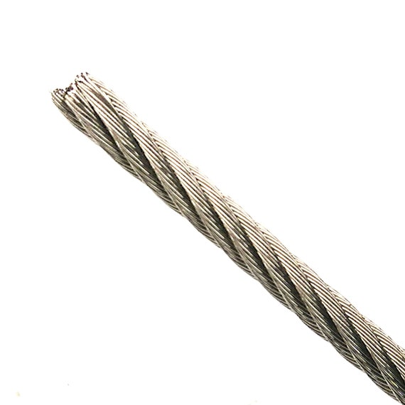 Stainless Steel Cable 1/8 Bare 7x19 Strand T304 Flexible | Etsy