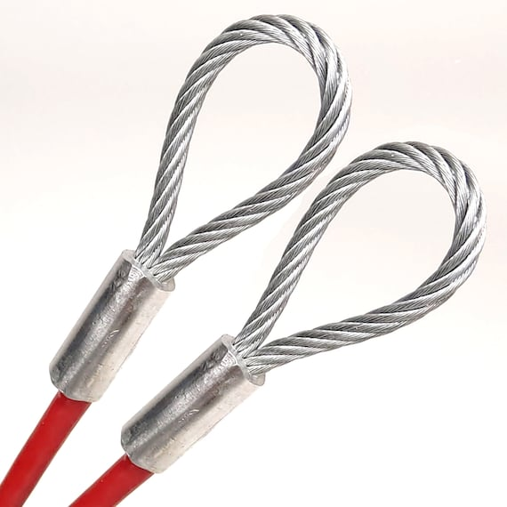 """1//4/"""" Vinyl Coat Wire Rope Cable 7x19 strand 1ft 70ft Galvanized Steel 3//16/"""""""