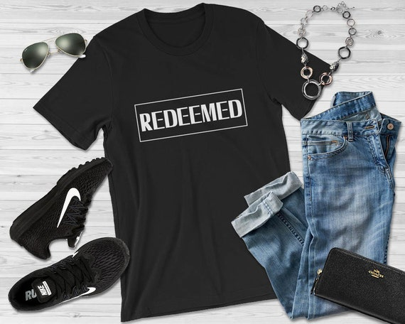 Christian T Shirts Redeemed Shirt Faith Shirt Cute  fd12b2180dd5