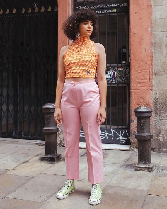 Courrèges pink cotton trousers - Courrèges cotton