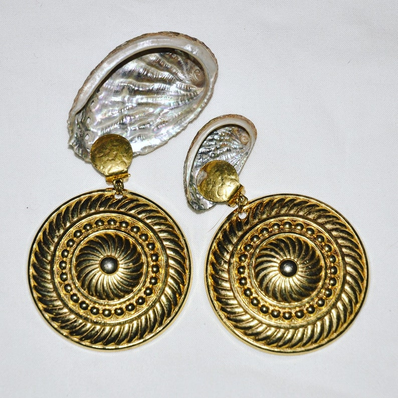 Disc gold plated clips