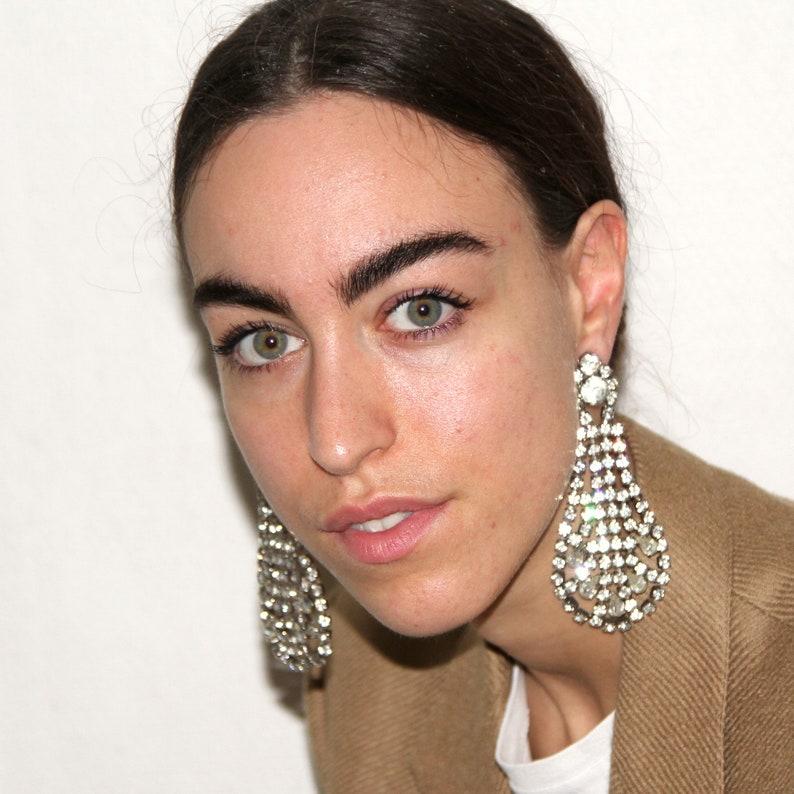 Strass clips earrings