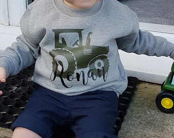 Childs T shirt with tractor and driver body