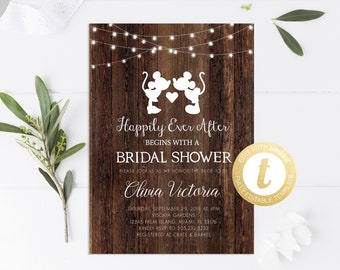 9b1886431d0d Disney Bridal Shower Invitation Printable