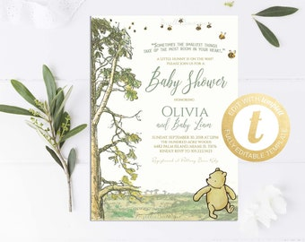 Winnie the pooh baby shower invitations Etsy