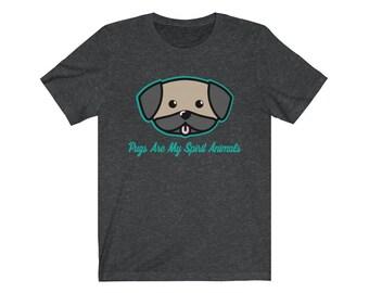 6e21c5e3 Pugs Are My Spirit Animal Tshirt | Pug Shirt | Pug Gifts | Pug Lover | Pug  Tshirt | Funny Pug Shirt | Pug T Shirt | Pug Tee | Pug Clothing