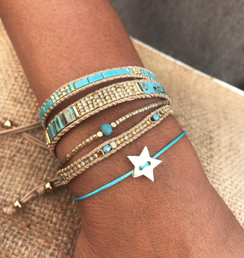 Boho Summery beaded bracelet Ibiza style