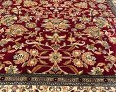 handmade kashmir silk carpet