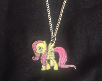 Personalised Name My LIttle Pony Keyring Pinkie Fluttershy Rarity Themed Bag Tag