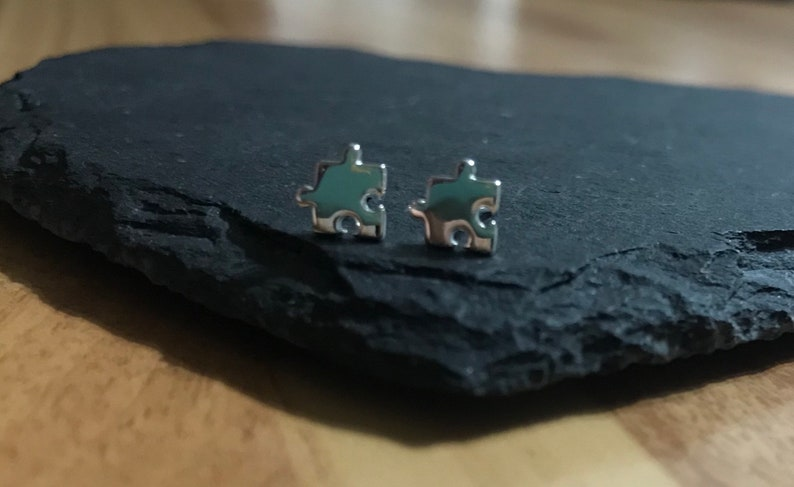 Sterling Silver Jigsaw puzzle pieces studsearrings