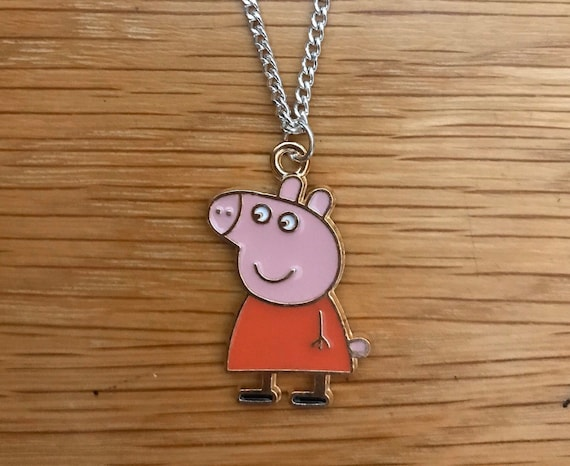 """CUTE PIG GIRLS Necklace 16/"""" Silver Plated Chain Present  In Gift Bag."""