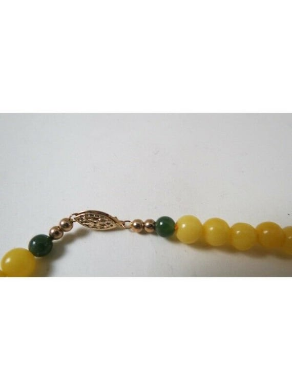 Museum Of Fine Arts Yellow Green Jade Cloisonne Necklace
