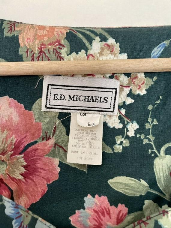 Vintage 80s Ed Michaels Laura Floral Cottagecore … - image 7