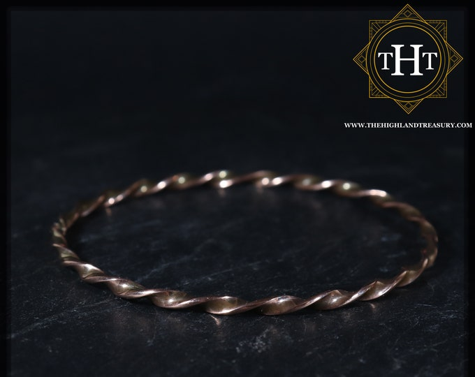 Traditional 7th Wedding Anniversary Vintage Twisted Curved Dainty Thin Rope Solid Copper Cuff Bangle Bracelet