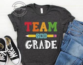 599f619e Team Second Grade Shirt, 2nd Grade Shirt, Teacher Shirt, Second Grade Squad  Crew Shirt 2nd Grade Teacher, Second Grade Teacher Shirt, Pencil