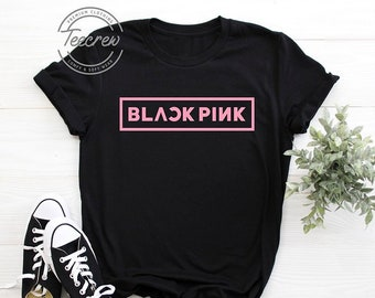 bb93abaece BlackPink Logo Shirt, K-pop T Shirt, Black Pink Concert, Kpop Unisex Shirts,  Women Men, Jisoo, Jennie, Rosé, Lisa Shirt