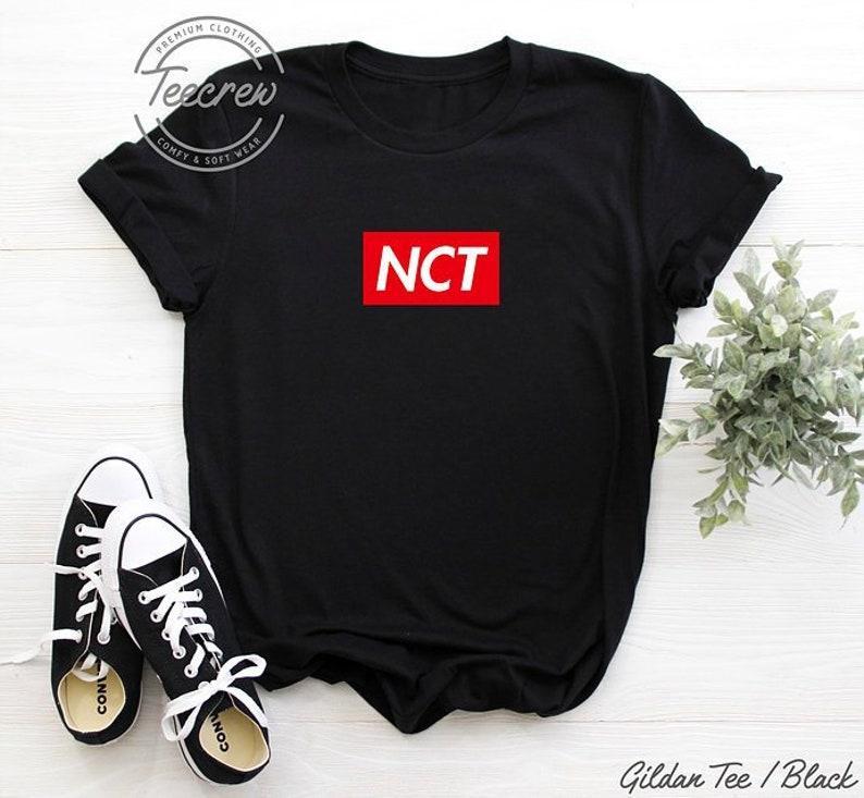 NCT Supreme Shirt Kpop Taeil Johnny Taeyong Yuta Kun Doyoung Ten Jaehyun  Winwin Jungwoo Lucas Mark Renjun Jeno Haechan Jaemin Chenle Jisung