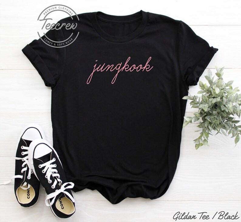 fc8753765b59 Jeon Jungkook Shirt Baby Pink BTS Shirt Army Kpop K-pop