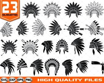 indian headdress svg etsy rh etsy com indian headdress clipart free Simple Indian Headdress Clip Art