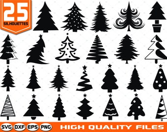 christmas tree svg christmas tree clip art christmas tree silhouette christmas tree cut file cricut cut files silhouette files