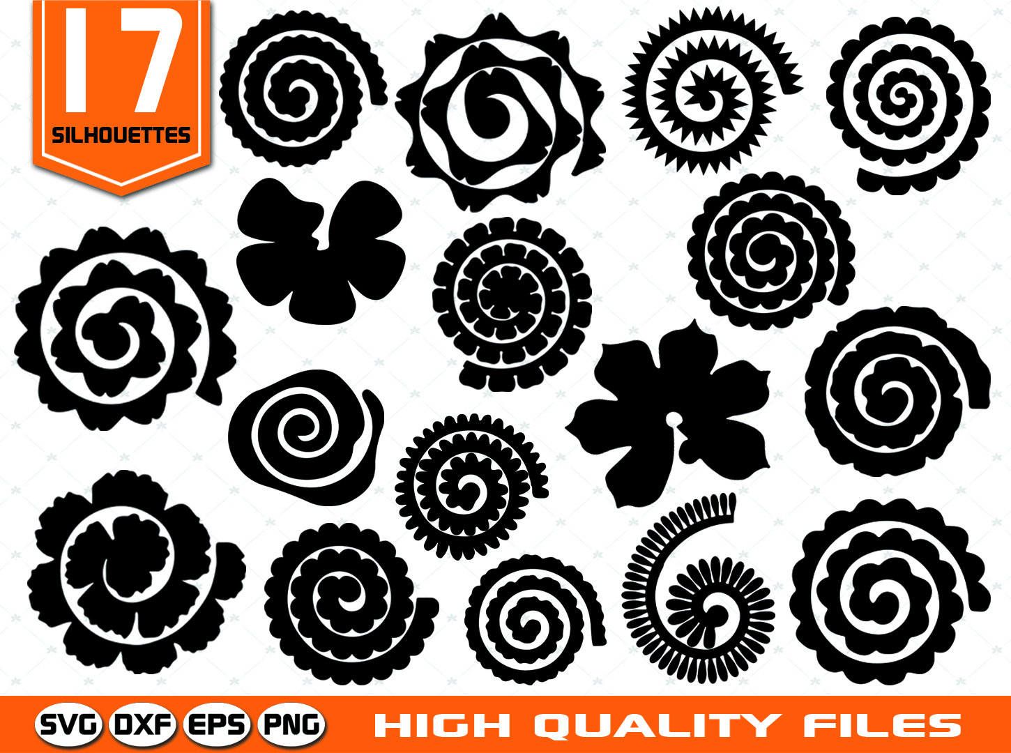 Paper Flowers Templates Svg Rolled Paper Flowers Paper Etsy