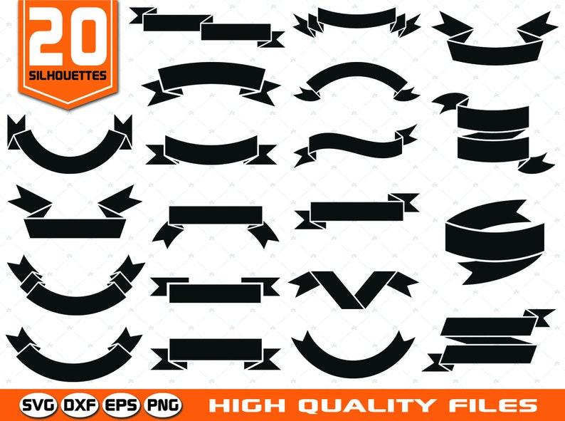 Banner Silhouettes SVG - Badges SVG - Ribbon SVG - Label svg - Banner Clip  art - Ribbon silhouettes - Tag Silhouettes - Cricut cut files
