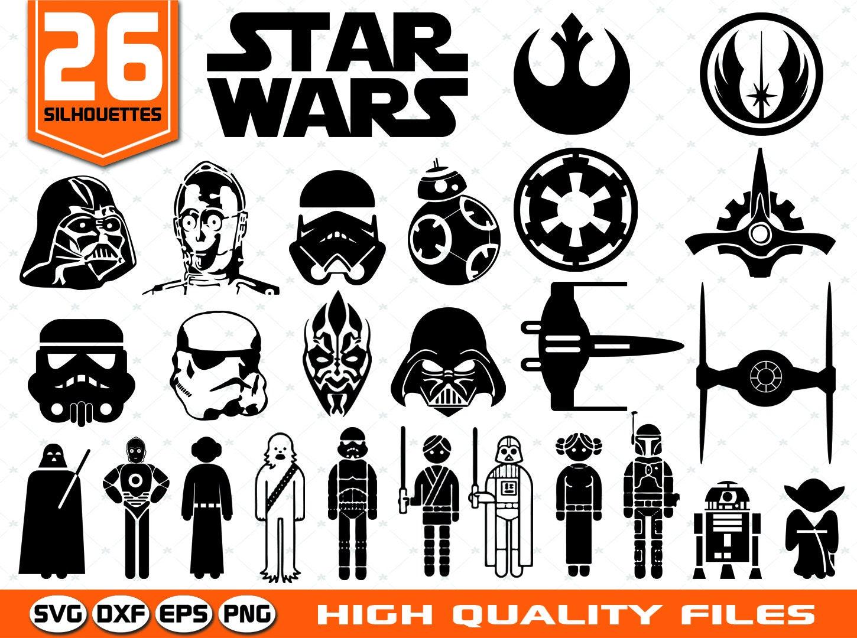 Star Wars Silhouettes SVG Star Wars Clip art Star Wars Cut ...