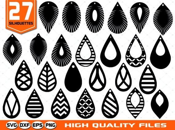 5feac5f84 Tear drop earrings SVG Teardrop templates SVG Laser cut | Etsy