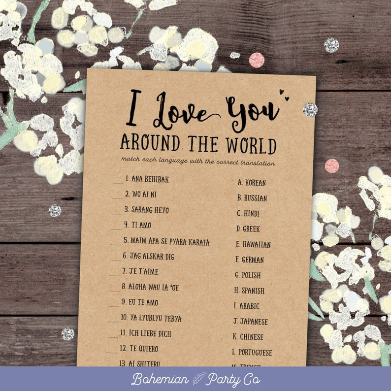 40849c6b74e I Love You Around The World Bridal Shower Game Printable
