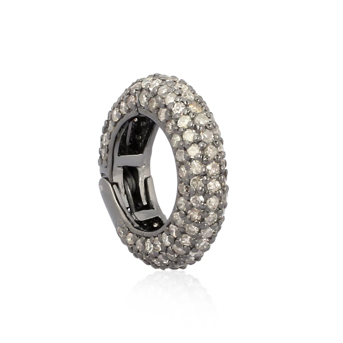 Vente de Noël! Livraison gratuite gratuite gratuite bijoux pavé diamant 925 argent Sterling rond bijoux verrouillage connecteur verrouillage résultats femme 5a8e4c