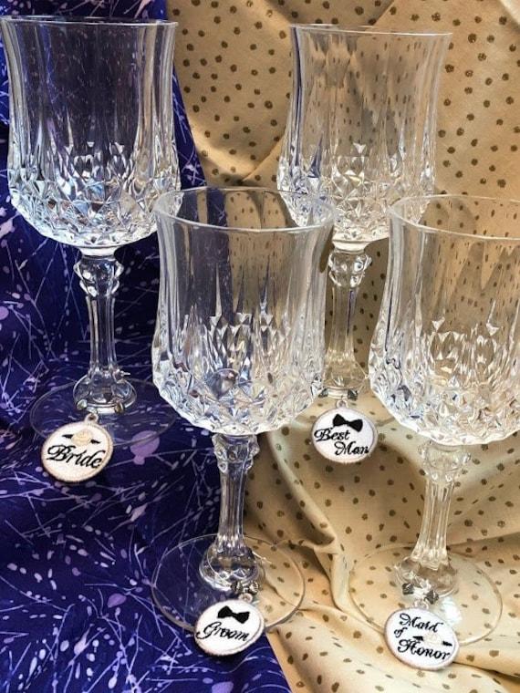 Wedding Day Wine Glass Charms