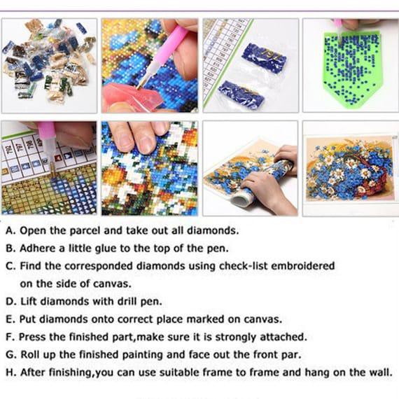 Wolf Beauty Moon 5D Resin Diamond Embroidery Cross Stitch Painting Decor GC