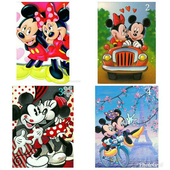 UK Minnie Christmas Gifts 5D Full Diamond Painting Embroidery Cross Stitch QW