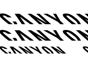Custom Canyon Bikes Frame Decals Stickers  Made from high | Etsy