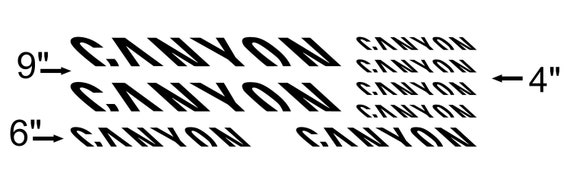 CANYON Mountain Bicycle Frame Decals Stickers Graphic Adhesive Set Vinyl Pink