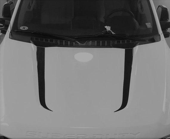 MATTE BLACK 2010-2017 DODGE RAM 2500//5500 Thin HOOD GILL VENT GRAPHIC DECALS
