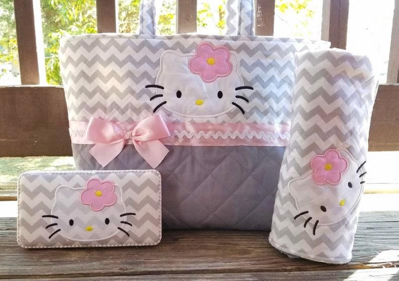 440085548e Hello Kitty Chrevron Diaper Bag ~ Baby Girl ~ Personalized ~ Monogram