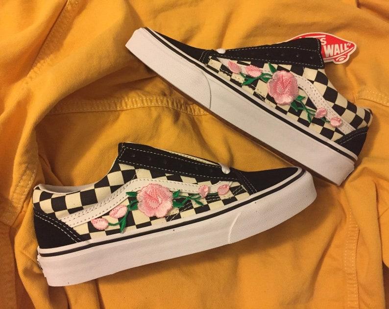 3c33b3892c Checkered old skool pink rose vans unisex back to school gift