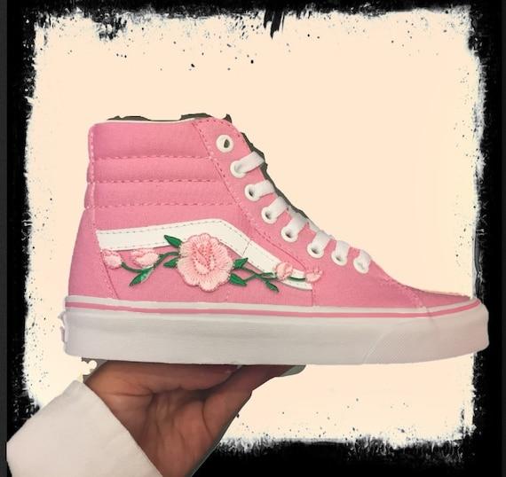 crisis Bien educado autopista  High top pink vans pink rose birthday gift gift for her back | Etsy