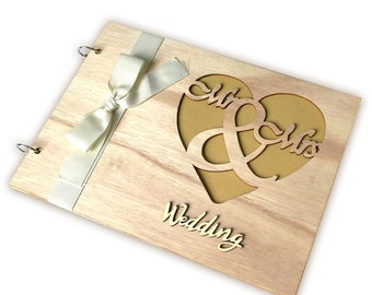 Wedding Guestbook Notepad Wooden Crafts