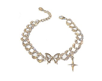 New Hollow Butterfly Exquisite Shining Rhinestone Bracelet